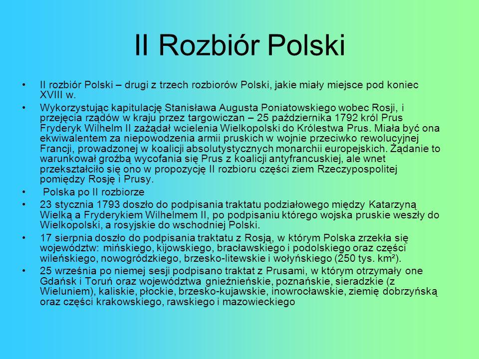 Mapa Polski po I Rozbiorze