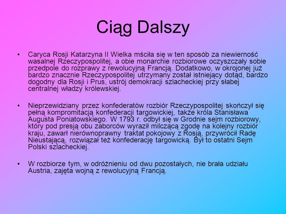 II Rozbiór Polski II rozbiór Polski – drugi z trzech rozbiorów Polski, jakie miały miejsce pod koniec XVIII w. Wykorzystując kapitulację Stanisława Au