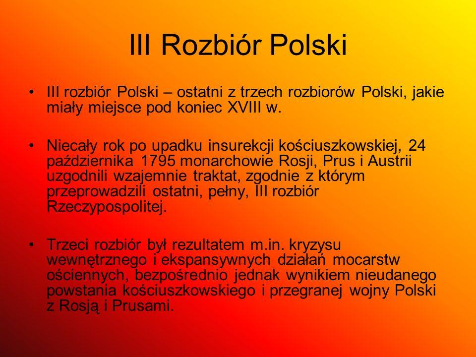 Mapa Polski po II Rozbiorze