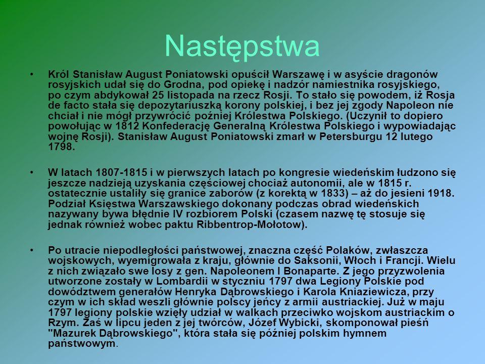 III Rozbiór Polski III rozbiór Polski – ostatni z trzech rozbiorów Polski, jakie miały miejsce pod koniec XVIII w. Niecały rok po upadku insurekcji ko