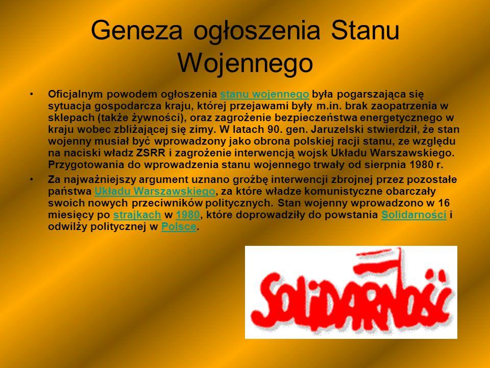 Wojciech Witold Jaruzelski Stan wojenny Wojciech Jaruzelski zapowiada wprowadzenie stanu wojennego 13 grudnia 1981 r.stanu wojennego13 grudnia 1981 13