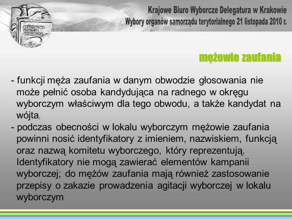 zadania komisji po zakończeniu głosowania W wyborach na terenie miasta Krakowa, komisje sporządzają 3 protokoły: - w wyborach do rady miasta Krakowa - w wyborach do sejmiku województwa - w wyborach prezydenta miasta Krakowa