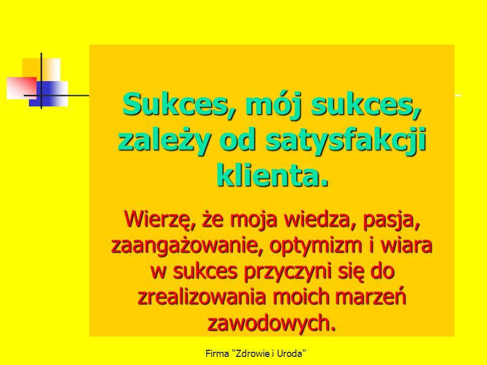 Firma Zdrowie i Uroda Na sukces trzeba ciężko zapracować – Czym.
