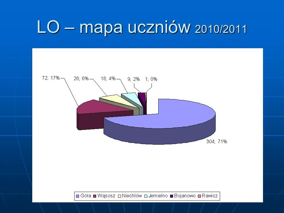 LO – mapa uczniów 2010/2011