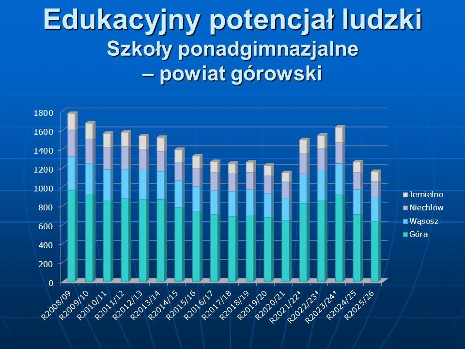 Edukacyjny potencjał ludzki Szkoły ponadgimnazjalne – powiat górowski
