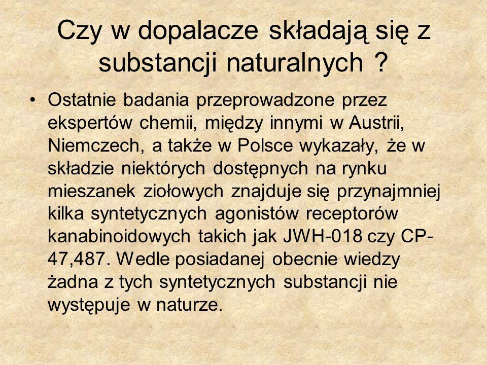 Czy w dopalacze składają się z substancji naturalnych ? Ostatnie badania przeprowadzone przez ekspertów chemii, między innymi w Austrii, Niemczech, a