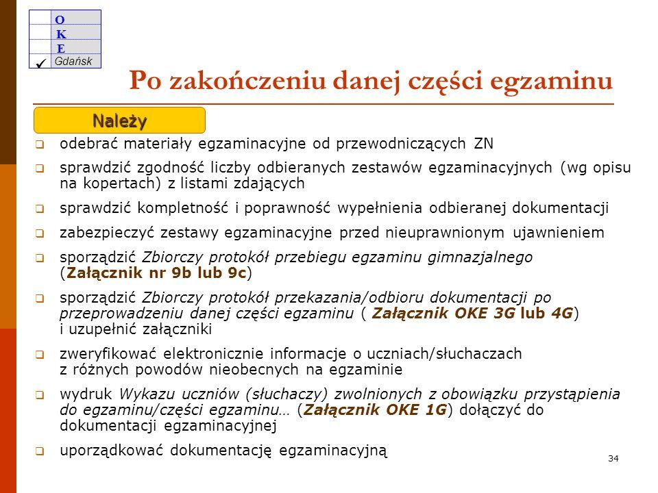 O K E Gdańsk 33 Wzór etykiety zwolniony dysleksja przeniesiony do sali 11 Nieoderwane pdf