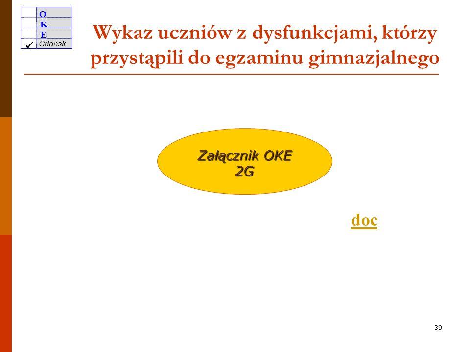 O K E Gdańsk 38 Wykaz uczniów zwolnionych… pdf Załącznik OKE 1G