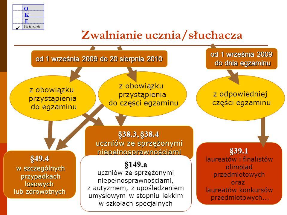 O K E Gdańsk 47 przekazanie szkołom przez OKE informacji o wynikach zdających – do 18 czerwca możliwość pobrania wyników ze strony internetowej OKE w