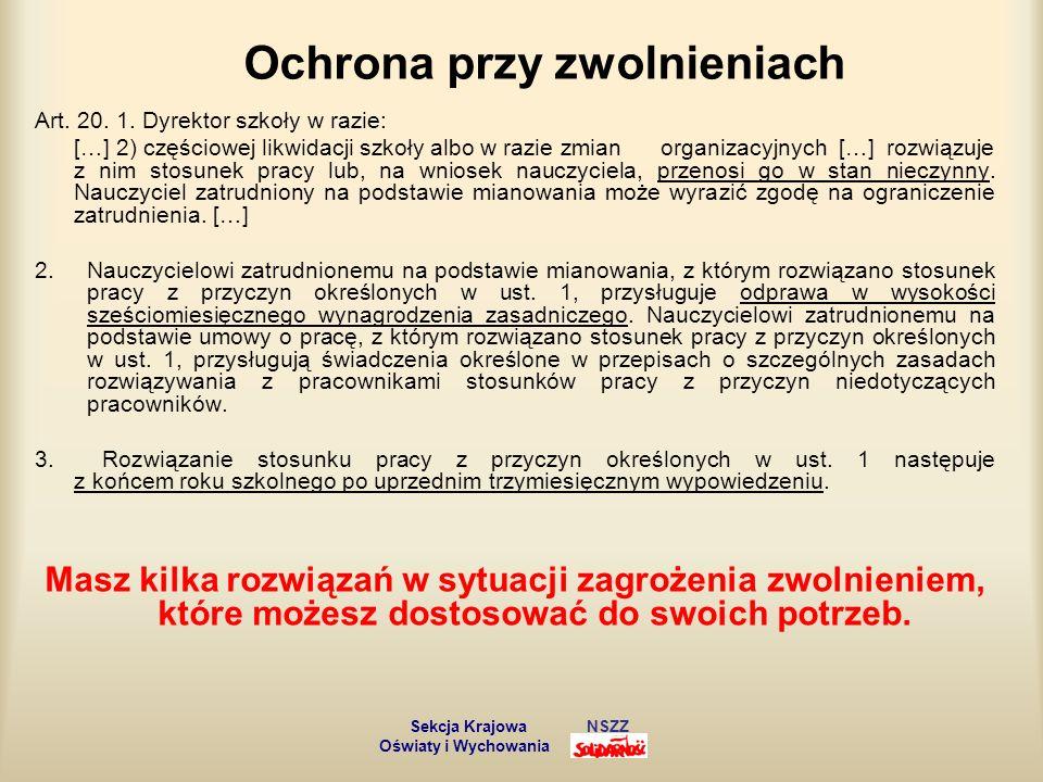Stanowisko pracy nauczyciela Art.29. 1.