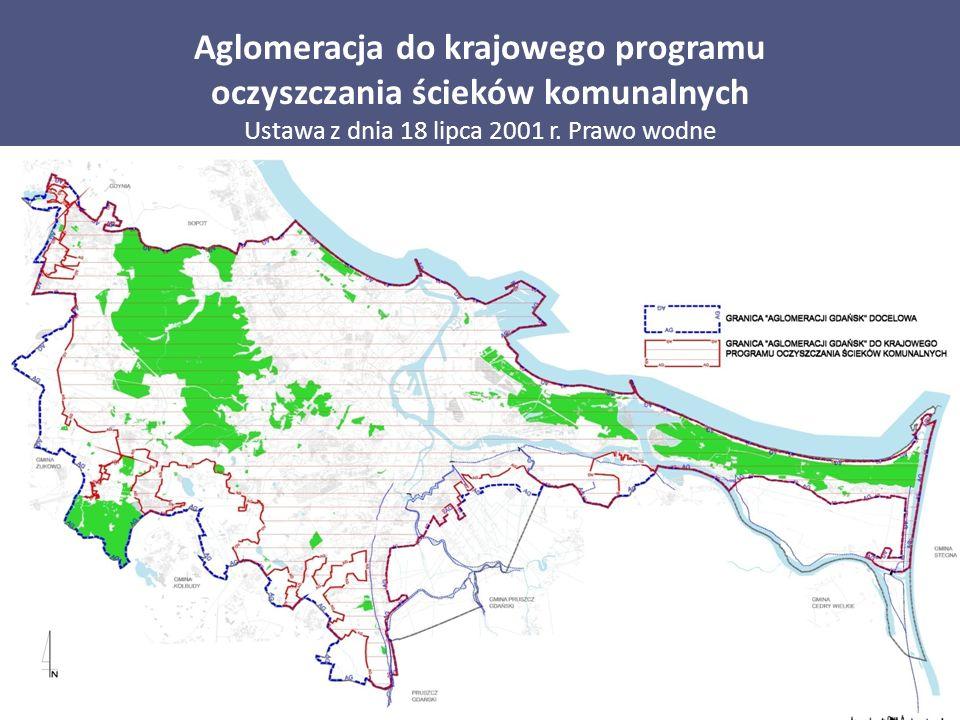 Aglomeracja do krajowego programu oczyszczania ścieków komunalnych Ustawa z dnia 18 lipca 2001 r. Prawo wodne