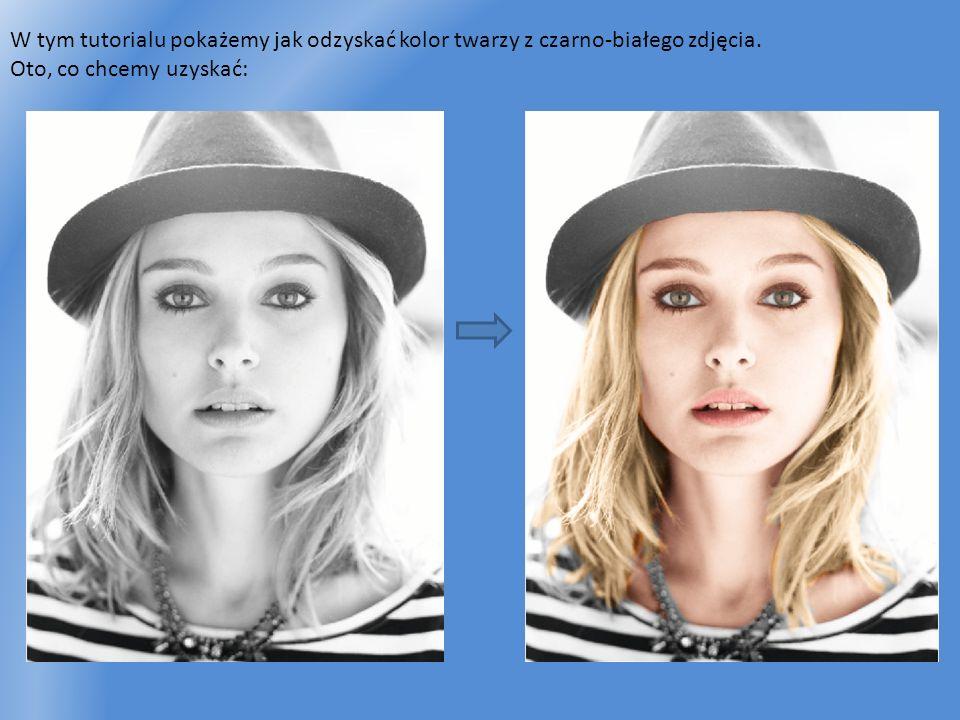 W tym tutorialu pokażemy jak odzyskać kolor twarzy z czarno-białego zdjęcia. Oto, co chcemy uzyskać: