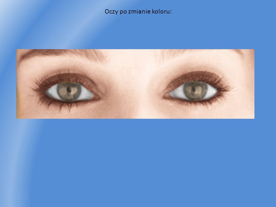 Oczy po zmianie koloru:
