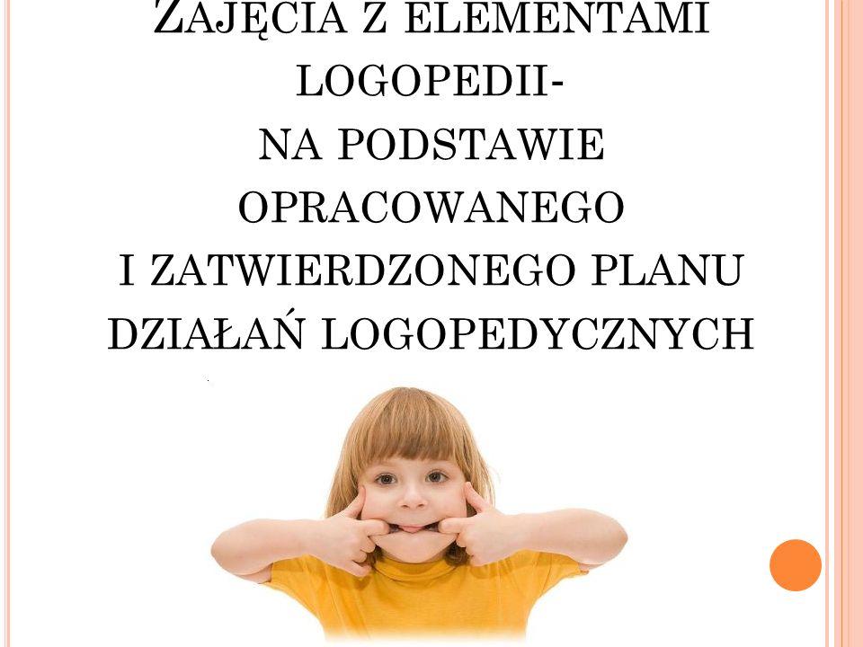 Rozwijanie i usprawnianie funkcji językowych.Zachęcanie do komunikowanie się za pomocą słów.