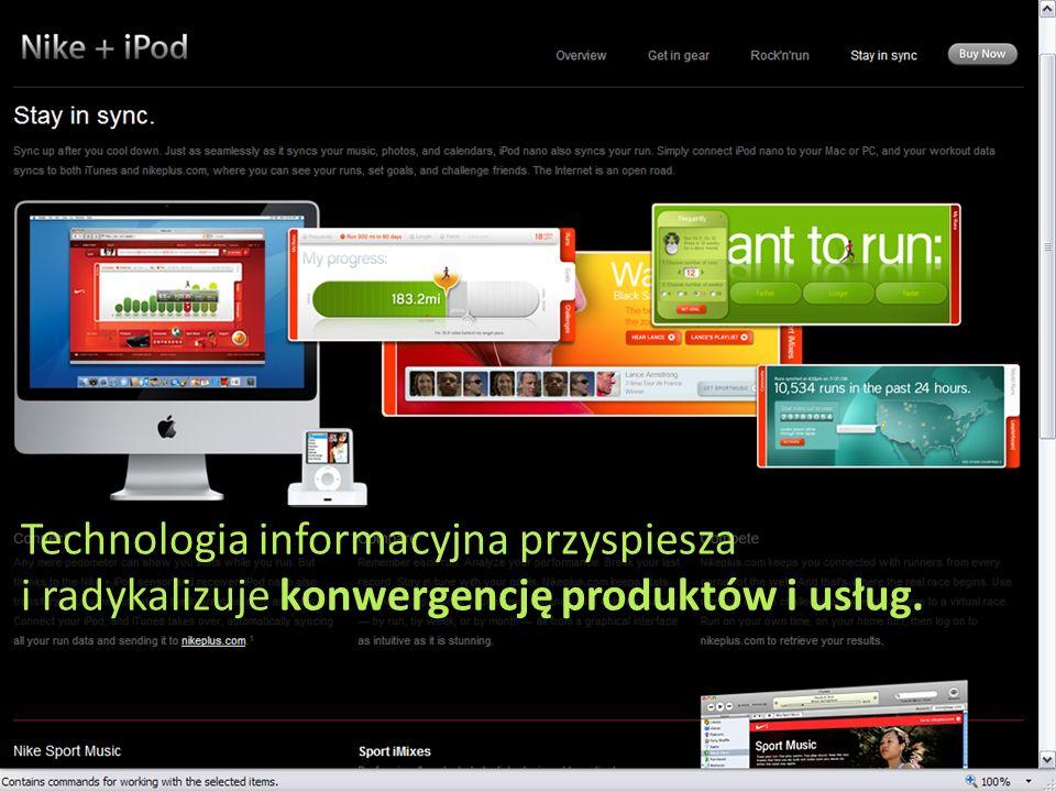 Technologia informacyjna przyspiesza i radykalizuje konwergencję produktów i usług.