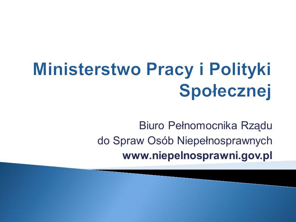 Biuro Pełnomocnika Rządu do Spraw Osób Niepełnosprawnych www.niepelnosprawni.gov.pl