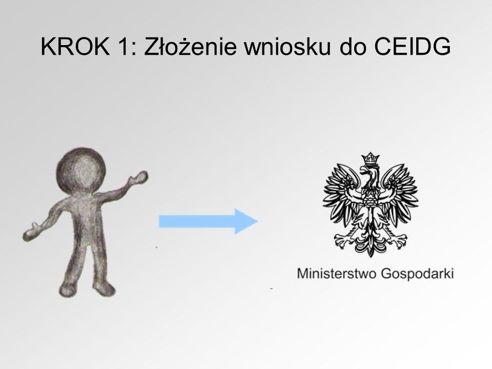 KROK 1: Złożenie wniosku do CEIDG