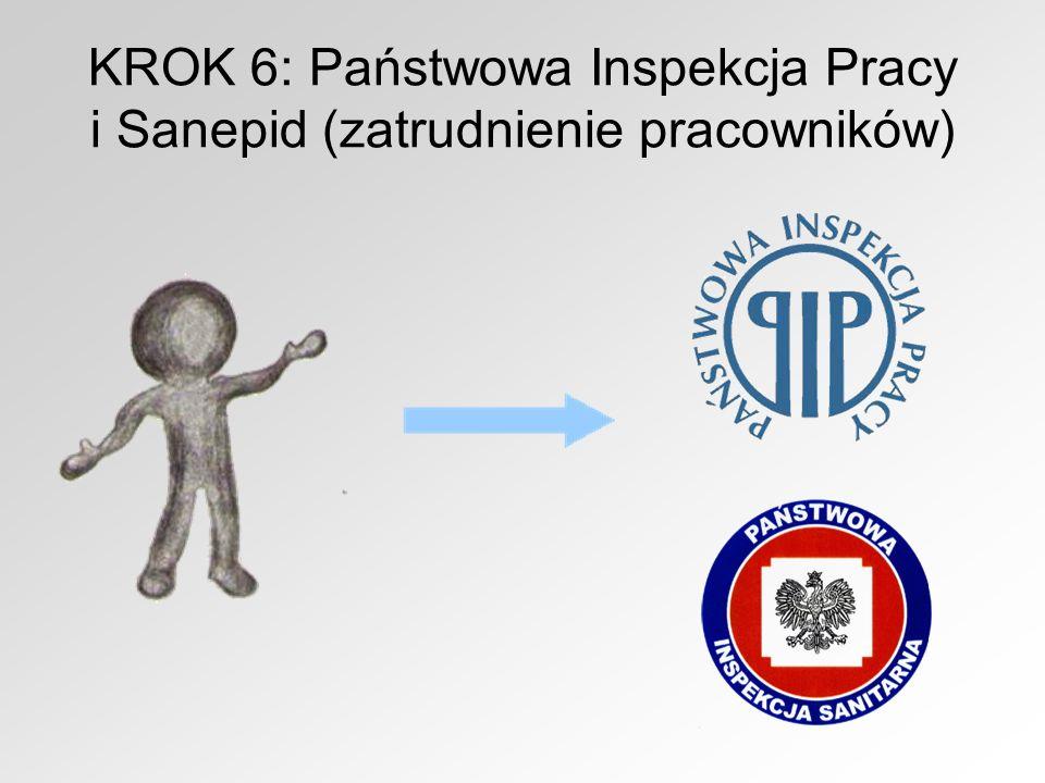 KROK 6: Państwowa Inspekcja Pracy i Sanepid (zatrudnienie pracowników)
