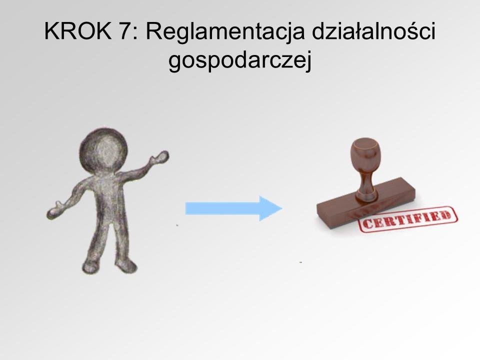 KROK 7: Reglamentacja działalności gospodarczej