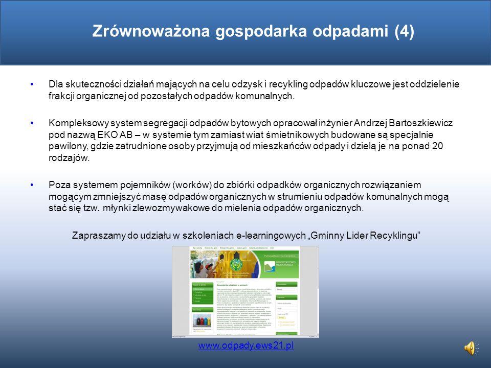Od stycznia 2012 roku wchodzi w życie znowelizowana Ustawa o zmianie ustawy o utrzymaniu czystości i porządku w gminach oraz niektórych innych ustaw,