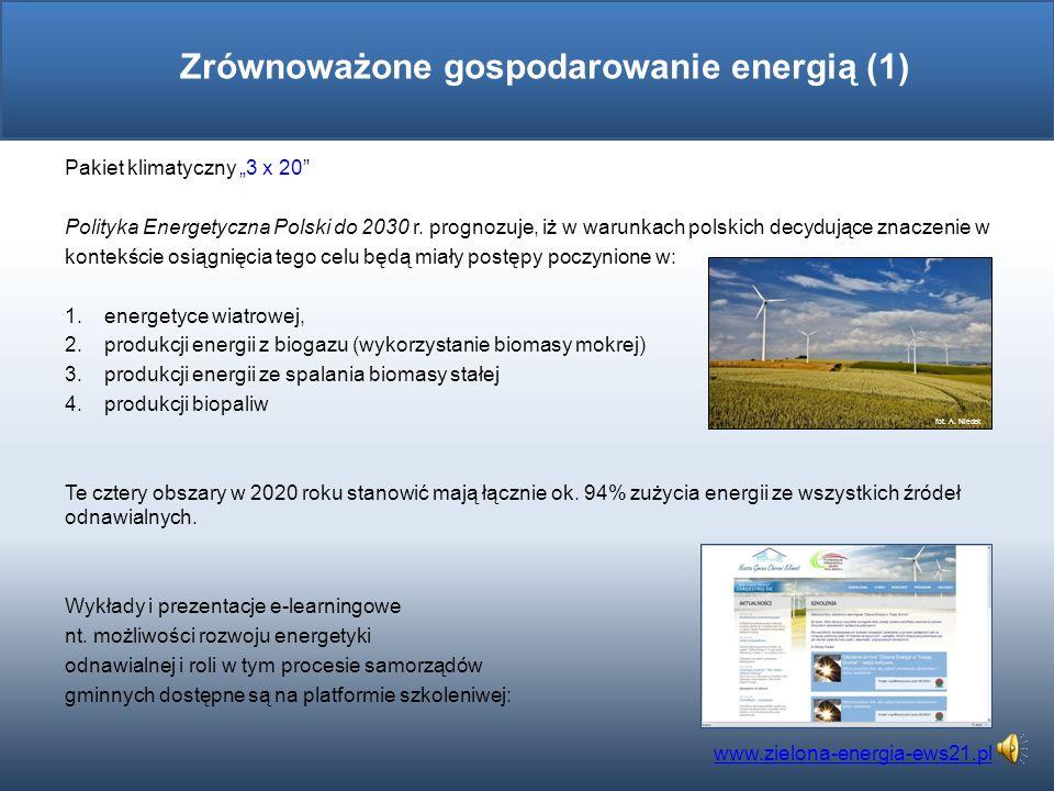 Pakiet klimatyczny 3 x 20 Polityka Energetyczna Polski do 2030 r.