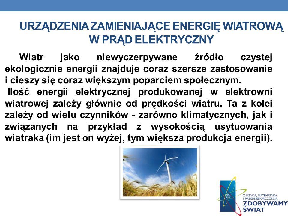 Wiatr jako niewyczerpywane źródło czystej ekologicznie energii znajduje coraz szersze zastosowanie i cieszy się coraz większym poparciem społecznym. I