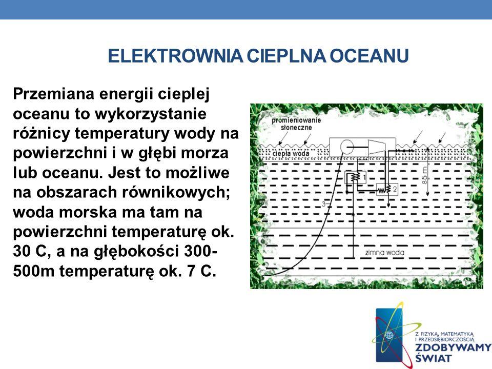 Przemiana energii cieplej oceanu to wykorzystanie różnicy temperatury wody na powierzchni i w głębi morza lub oceanu. Jest to możliwe na obszarach rów