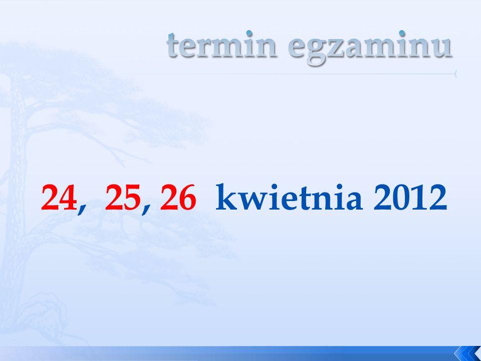 24, 25, 26 kwietnia 2012