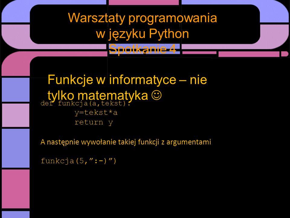 Spotkanie Warsztaty programowania w języku Python Spotkanie 4 Rysowanie na ekranie - podstawy Ekran monitora składa się z pojedynczych komórek świecących nazywanych pikselami.
