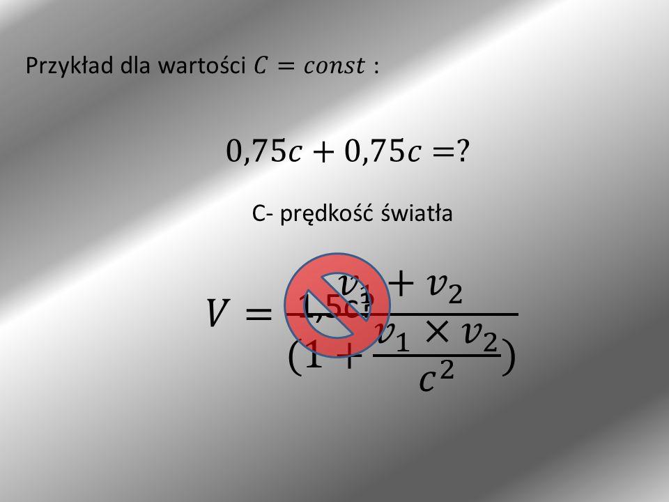 C- prędkość światła 1,5c?