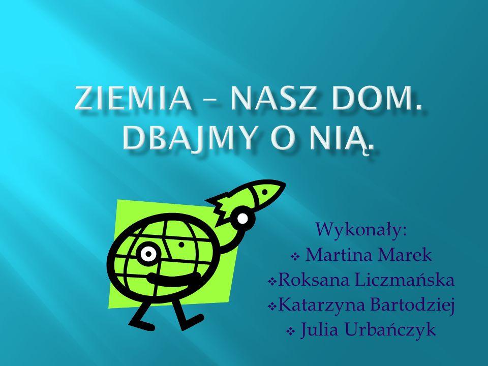 Wykonały: Martina Marek Roksana Liczmańska Katarzyna Bartodziej Julia Urbańczyk
