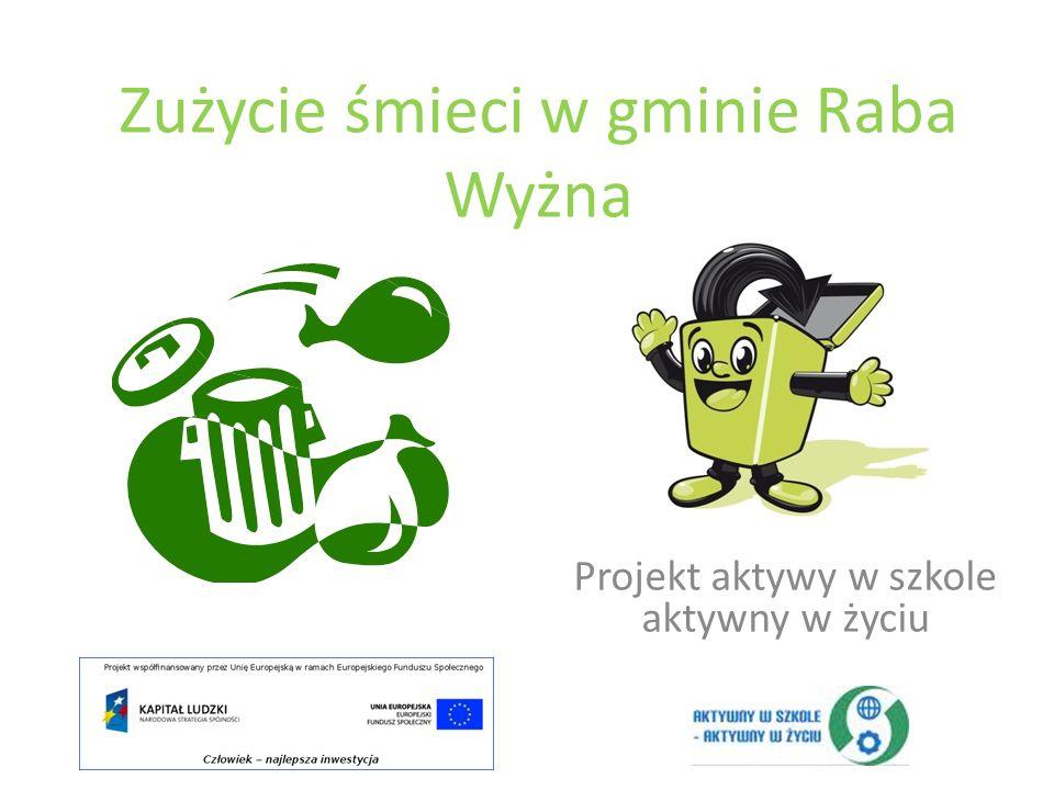 Zużycie śmieci w gminie Raba Wyżna Projekt aktywy w szkole aktywny w życiu