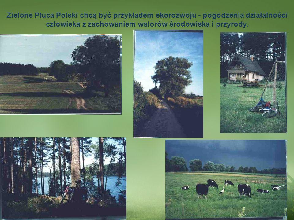 . Zielone Płuca Polski chcą być przykładem ekorozwoju - pogodzenia działalności człowieka z zachowaniem walorów środowiska i przyrody.