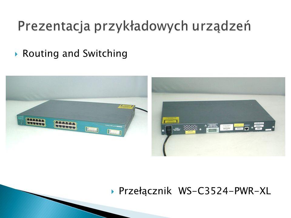 Routing and Switching Przełącznik WS-C3524-PWR-XL