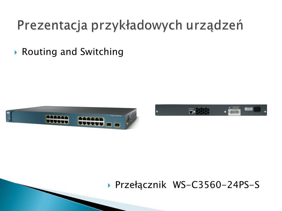Routing and Switching Przełącznik WS-C3560-24PS-S
