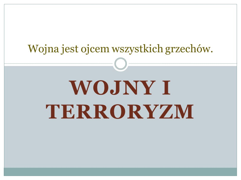 Co to jest Terroryzm.