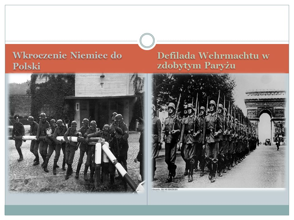 Wkroczenie Niemiec do Polski Defilada Wehrmachtu w zdobytym Paryżu
