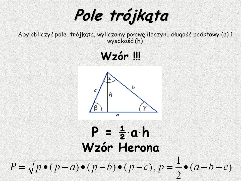 Trójkąt Trójkątem nazywamy wielokąt o trzech bokach (więc i trzech kątach). Warunek trójkąta Długość każdego boku trójkąta jest mniejsza od sumy długo