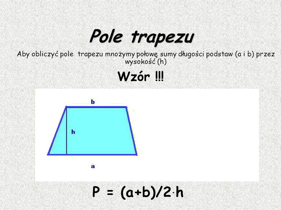 Trapez Trapez to czworokąt, który ma co najmniej jedną parę boków równoległych. Równoległe boki trapezu nazywamy podstawami, a pozostałe boki - ramion