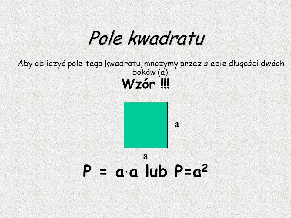 Kwadrat Kwadrat jest prostokątem, który ma wszystkie boki jednakowej długości. Przekątne kwadratu są jednakowej długości, przecinają się w połowie i s