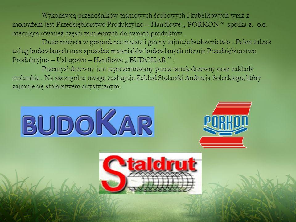 Wykonawcą przenośników taśmowych śrubowych i kubełkowych wraz z montażem jest Przedsiębiorstwo Produkcyjno – Handlowe PORKON spółka z.