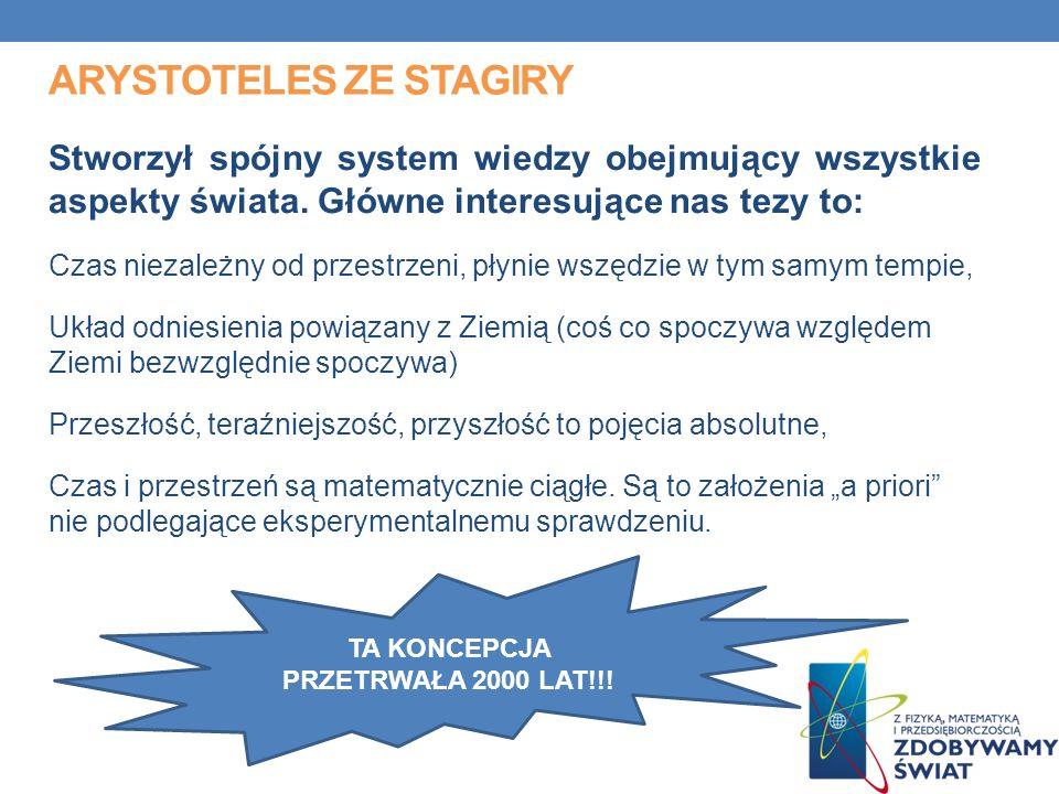 ARYSTOTELES ZE STAGIRY Stworzył spójny system wiedzy obejmujący wszystkie aspekty świata.