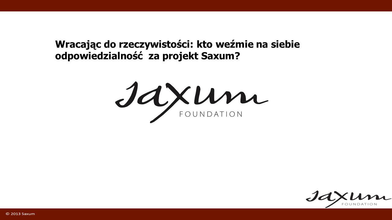 Wracając do rzeczywistości: kto weźmie na siebie odpowiedzialność za projekt Saxum?