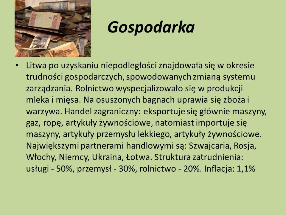 Gospodarka Litwa po uzyskaniu niepodległości znajdowała się w okresie trudności gospodarczych, spowodowanych zmianą systemu zarządzania. Rolnictwo wys