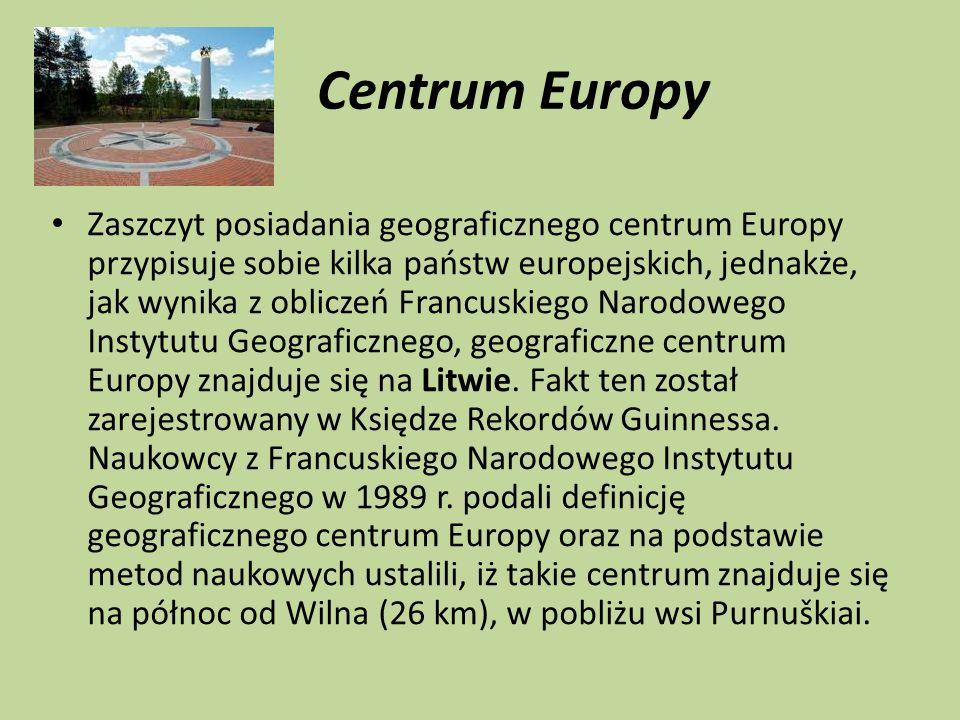 Centrum Europy Zaszczyt posiadania geograficznego centrum Europy przypisuje sobie kilka państw europejskich, jednakże, jak wynika z obliczeń Francuski