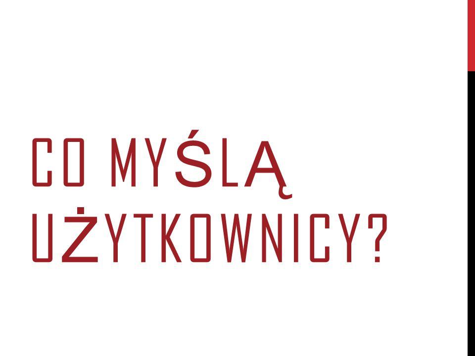 CO MY Ś L Ą U Ż YTKOWNICY?