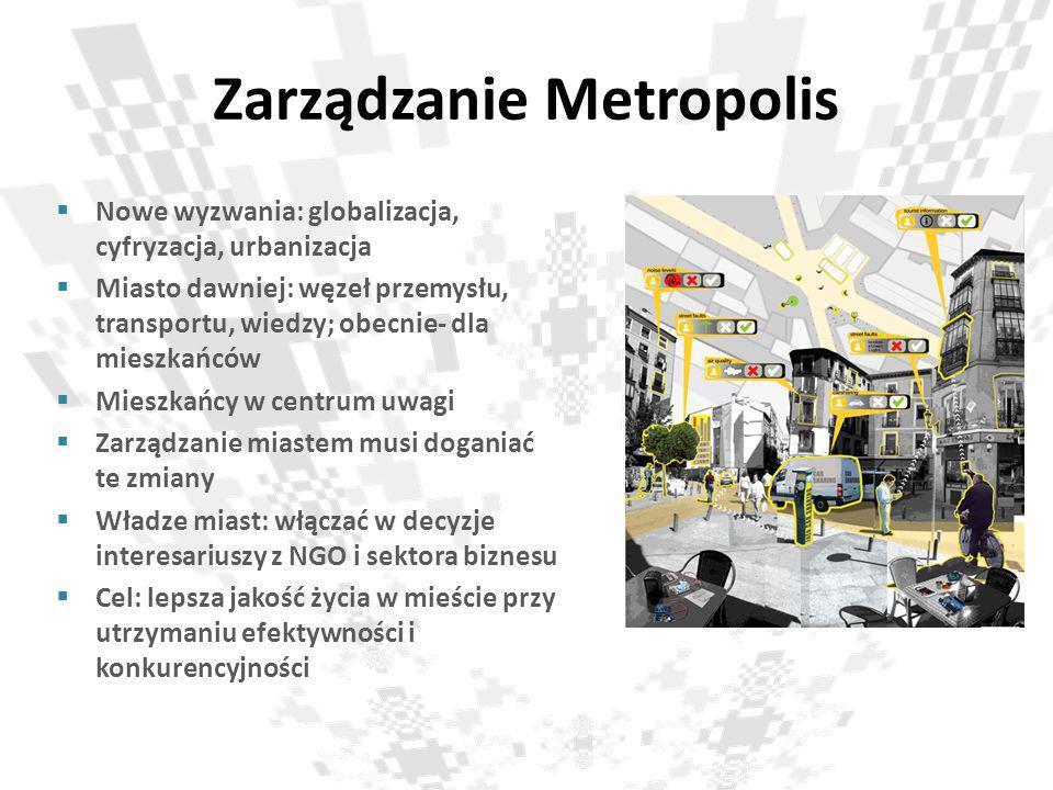 Zarządzanie Metropolis Nowe wyzwania: globalizacja, cyfryzacja, urbanizacja Miasto dawniej: węzeł przemysłu, transportu, wiedzy; obecnie- dla mieszkań