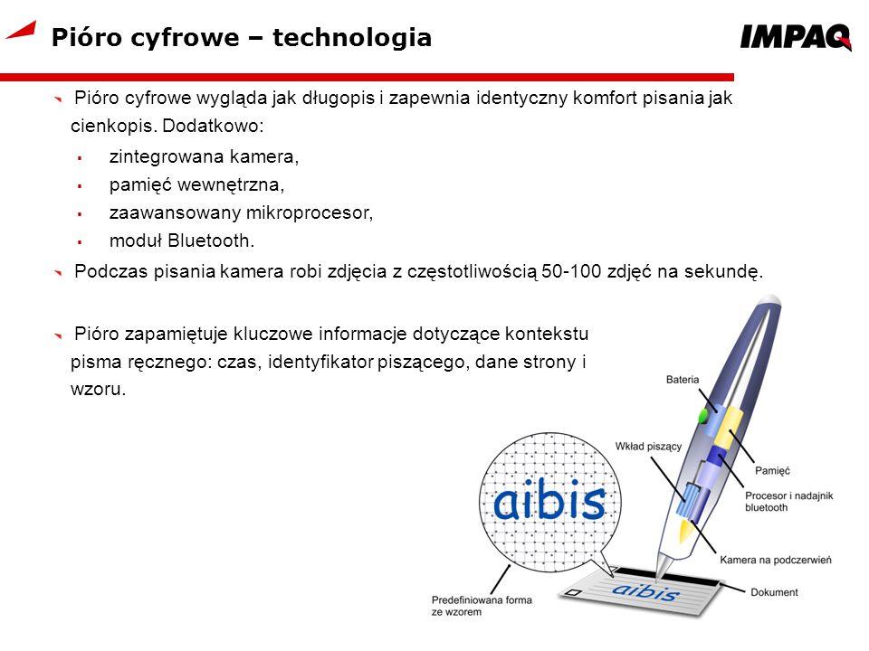 Pióro cyfrowe – technologia Pióro cyfrowe wygląda jak długopis i zapewnia identyczny komfort pisania jak cienkopis. Dodatkowo: zintegrowana kamera, pa