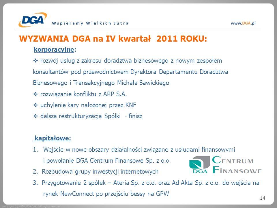 Wspieramy Wielkich Jutrawww.DGA.pl copyright (c) 2010 DGA S.A.
