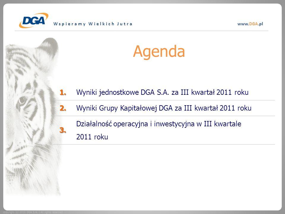Wspieramy Wielkich Jutrawww.DGA.pl Agenda copyright (c) 2010 DGA S.A.